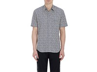 Maison Martin Margiela Men's Arabesque Print Cotton Shirt No Color