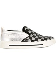 Marc Jacobs 'Mercer' Slip On Sneakers Metallic