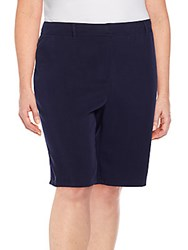Eileen Fisher Plus Size Tapered Bermuda Shorts Midnight