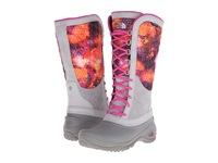 The North Face Thermoball Utility Tessellated Floral Print Luminous Pink Women's Boots Gray