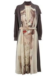 Undercover Belted Mid Length Coat Multicolour