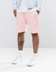 Asos Jersey Shorts In Pink Strawberry Cream