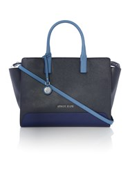 Armani Jeans Eco Leather Navy Tote Bag Blue