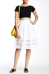 Amanda And Chelsea Organza Inset Circle Skirt Petite White