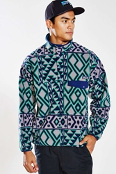 Patagonia Synchilla Snap T Fleece Pullover Jacket Blue Multi