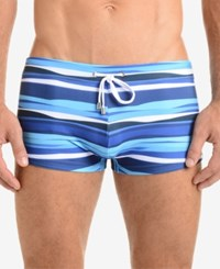 2Xist 2 X Ist Men's Awning Stripe Cabo Swimsuit Awning Stripe Estate Blue