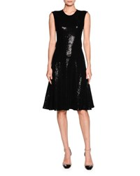 Giorgio Armani Sequined Sleeveless Cocktail Dress Black