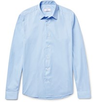 Ami Alexandre Mattiussi Slim Fit Cotton Poplin Shirt Light Blue