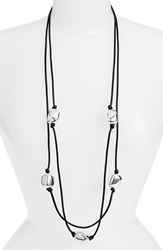 Simon Sebbag Women's Convertible Long Leather Necklace