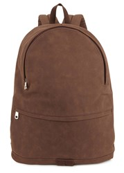 A.P.C. Stefan Brown Faux Suede Backpack
