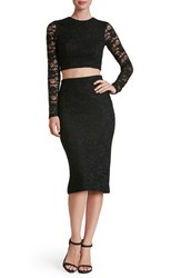 Dress The Population Women's 'Alexa' Lace Two Piece