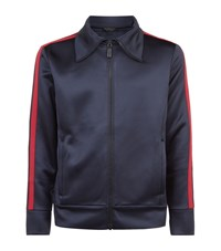 Burberry Runway Side Stripe Zip Up Sweatshirt Male Navy