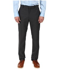 Perry Ellis Portfolio Slim Fit Plaid Pants Charcoal Men's Dress Pants Gray