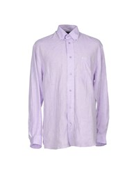 Faconnable Shirts Shirts Men Lilac