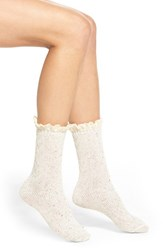 Women's Free People 'Highlands' Speckled Boot Socks White