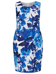 Windsmoor Printed Linen Dress Bright Blue