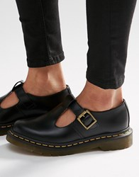 Dr. Martens Dr Core Polley T Bar Flat Shoes Black Smooth