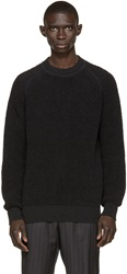 Marc Jacobs Black Merino French Terry Pullover