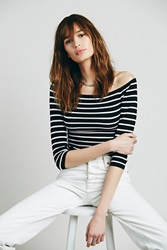 Intimately Off The Shoulder Striped Seamless Top