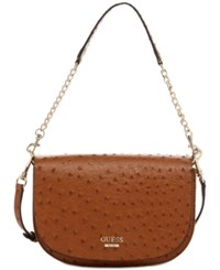 Guess Devyn Saddle Crossbody Cognac