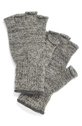 Men's Upstate Stock 'Ragg' Fingerless Wool Blend Knit Gloves Grey Charcoal Melange
