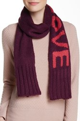 Wooden Ships Love Aubergine Tuber Rose Scarf Red