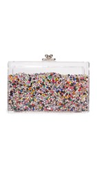 One By Ashlyn'd Rhinestone Shaker Clutch Multi