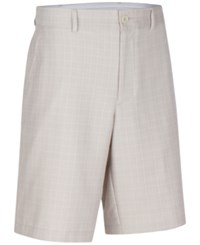 Greg Norman For Tasso Elba Men's Big And Tall Keller Plaid Shorts Only At Macy's Light Bone