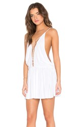 Indah Sachi Mini Dress White