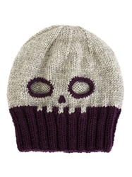Ca4la Skull Knit Hat Grey