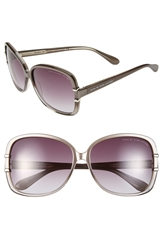 Marc By Marc Jacobs 59Mm Ombre Oversized Sunglasses Translucent Pearl Grey