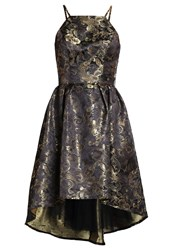 Chi Chi London Tallie Cocktail Dress Party Dress Black Gold