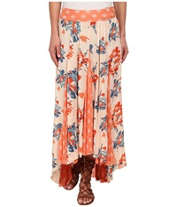 Free People Rayon Gauze Printed Show Off Your Skirt 2 Honeysuckle Combo Women's Skirt Neutral
