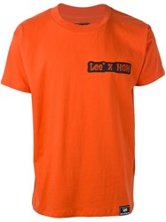 House Of Holland 'Hoh X Lee Collaboration' T Shirt Yellow And Orange