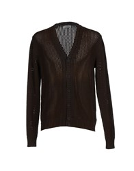 Alpha Studio Knitwear Cardigans Men Dark Brown