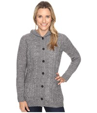 Royal Robbins Ahwahnee Hooded Cardi Charcoal Women's Sweater Gray