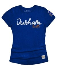 Retro Brand Women's Durham Bulls Streaky Tri Blend T Shirt Royalblue