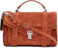 Proenza Schouler Orange Suede Medium Ps1 Satchel