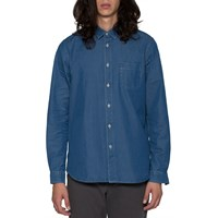 Folk Bleached Denim Degree Shirt Blue