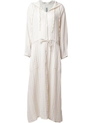 Raquel Allegra Hooded Tunic Dress White