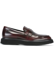 Hogan Chunky Sole Loafers Red