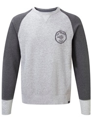 Tog 24 Oso Print Crew Neck Pull Over Overhead Light Grey