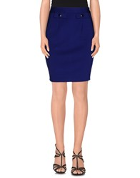 Darling Skirts Knee Length Skirts Women Blue