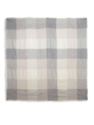 Peserico Wool Plaid Scarf Taupe Multi