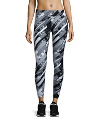 Marc Ny Performance Graphic Print Ankle Crop Leggings Black Shattered