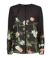 Ted Baker Keekee Secret Trellis Blouse Female Black