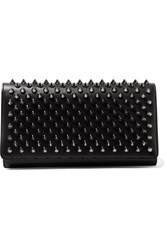 Christian Louboutin Macaron Spiked Leather Wallet Black