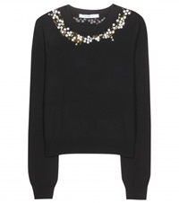 Givenchy Embroidered Wool And Cashmere Blend Sweater Black