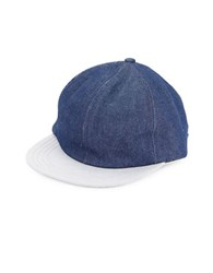 Brooks Brothers Dark Wash Denim Baseball Hat Blue