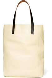 Marni Leather Tote Pastel Yellow